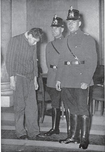 Marinus van der Lubbe during the trial