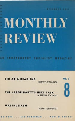 Monthly Review Volume 3, Number 8 (December 1951)