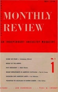 Monthly Review Volume 1, Number 1 (May 1949)