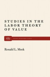 Studies in the Labor Theory of Value