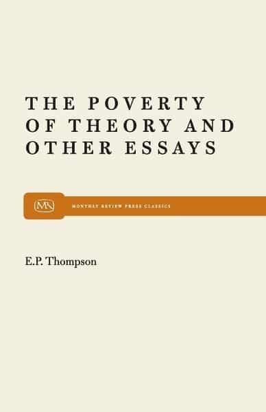 the poverty of theory and other essays monthly review press poverty of theory