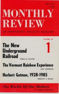 Monthly Review Volume 38, Number 1 (May 1986)