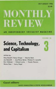 Monthly Review Volume 38, Number 3 (July-August 1986)