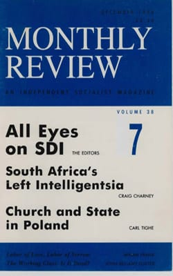 Monthly Review Volume 38, Number 7 (December 1986)