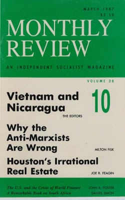 Monthly Review Volume 38, Number 10 (March 1987)