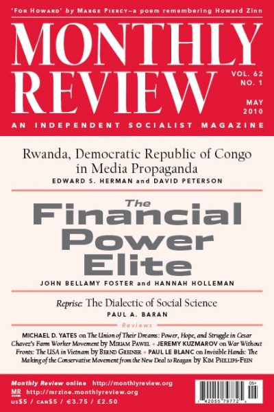 Monthly Review Volume 62, Number 1 (May 2010)