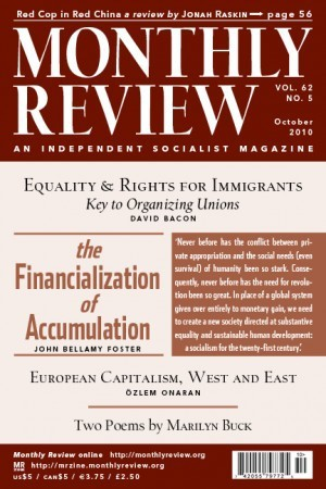 Monthly Review Volume 62, Number 5 (October 2010)