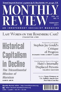 Monthly Review February 2011 (Volume 62, Number 9)