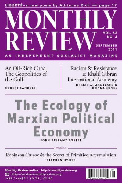 Monthly Review Volume 63, Number 4 (September 2011)