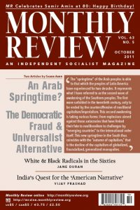 Monthly Review Volume 63, Number 5 (October 2011)