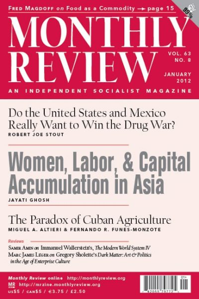 Monthly Review Volume 63, Number 8 (January 2012)