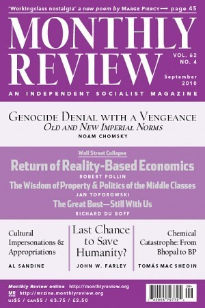Monthly Review Volume 62, Number 4 (September 2010)