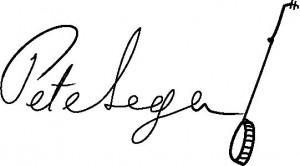 Pete Seeger Banjo Signature