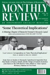 Monthly Review Volume 64, Number 2 (June 2012)