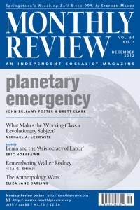 Monthly Review Volume 64, Number 7 (December 2012)
