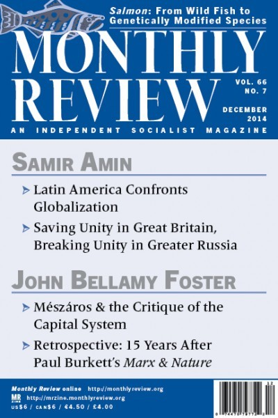 Monthly Review, December 2014 (Volume 66, Number 7)