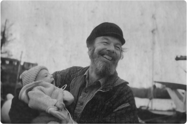 Jeremy Mage and Pete Seeger, 1973