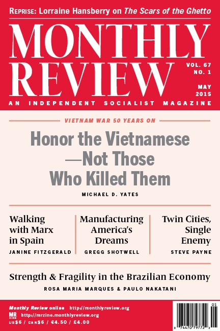 Monthly Review Volume 67, Number 1 (May 2015)