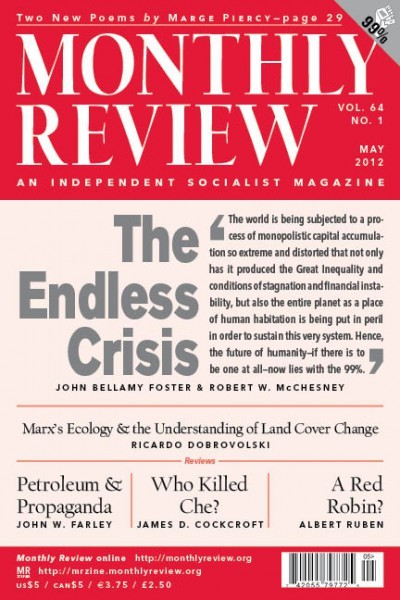 Monthly Review Volume 64, Number 1 (May 2012)