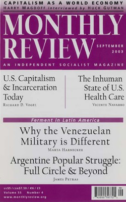 Monthly Review Volume 55, Number 4 (August 2003)
