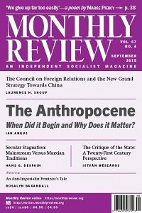 Monthly Review Volume 67, Number 4 (September 2015)