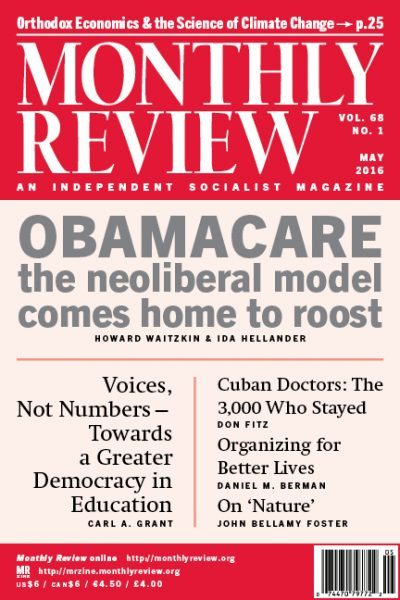 Monthly Review Volume 68, Number 1 (May 2016)