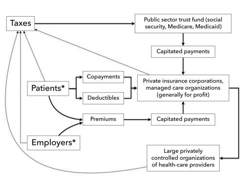 Chart 1. Financial Flows Under Neoliberal Health Reforms