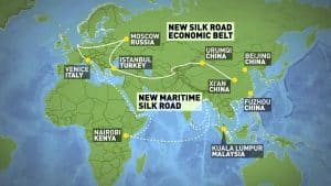 One Belt, One Road Map