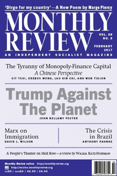 Monthly Review Volume 68, Number 9 (February 2017)