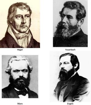 Hegel, Feuerbach, Marx, and Engels