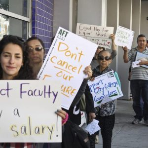 City College of San Francisco Teachers Protest