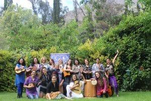 Women songwriters' workshop participants