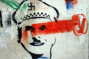 Mauricio Macri with swastika