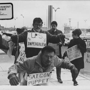 Vietnam War protesters. 1967. Wichita, Kans