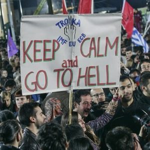 greece: austerity protest