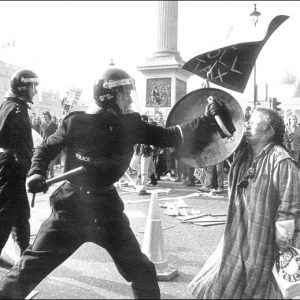 Policing during the anti-Poll Tax demonstration (March 31, 1990)