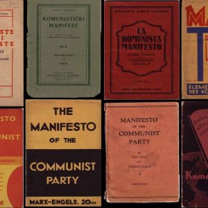 Communist Manifesto book covers