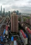 Panoramic view at Shanghai Pudong from the Eton Hotel