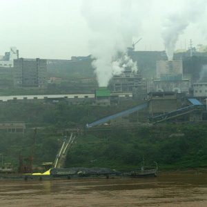A factory along the Yangtze River in China