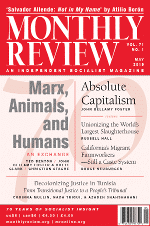 Monthly Review Volume 71, Number 1 (May 2019)