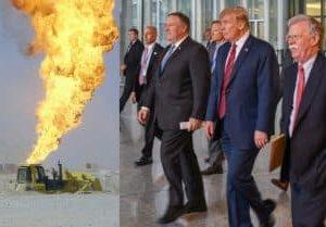 Trump-Bolton-Pompeo-oil-war