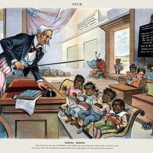 School Begins from Puck Magazine 1-25-1899)
