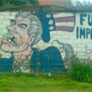 Anti-imperialism mural in Caracas, Venezuela