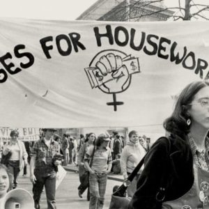 A Wages for Housework march in 1977