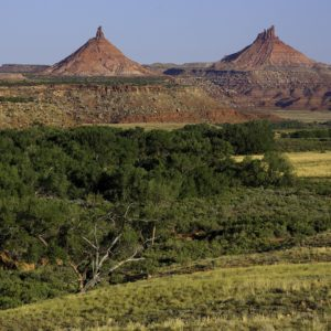Daytime in Indian Creek, the Sixshooter Peaks in Bears Ears National Monument