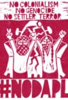 #NoDAPL by the Palestinian artist, Leila Abdelrazaq