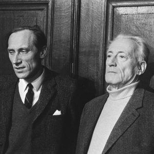 Leszek Kolakowski and Henri Lefebvre at a conference in the Netherlands on March 9, 1971