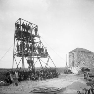 Workers at a mine in Knockmahon, County Waterford, Ireland in 1906