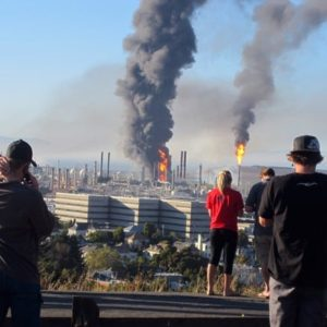 Chevron refinery fire in Richmond, VA in August 6 2012