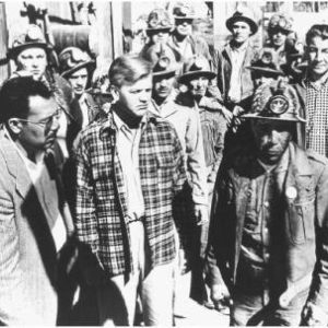 """Labor leader Clinton Jencks (center) in the fictionalized film """"Salt of the Earth"""""""
